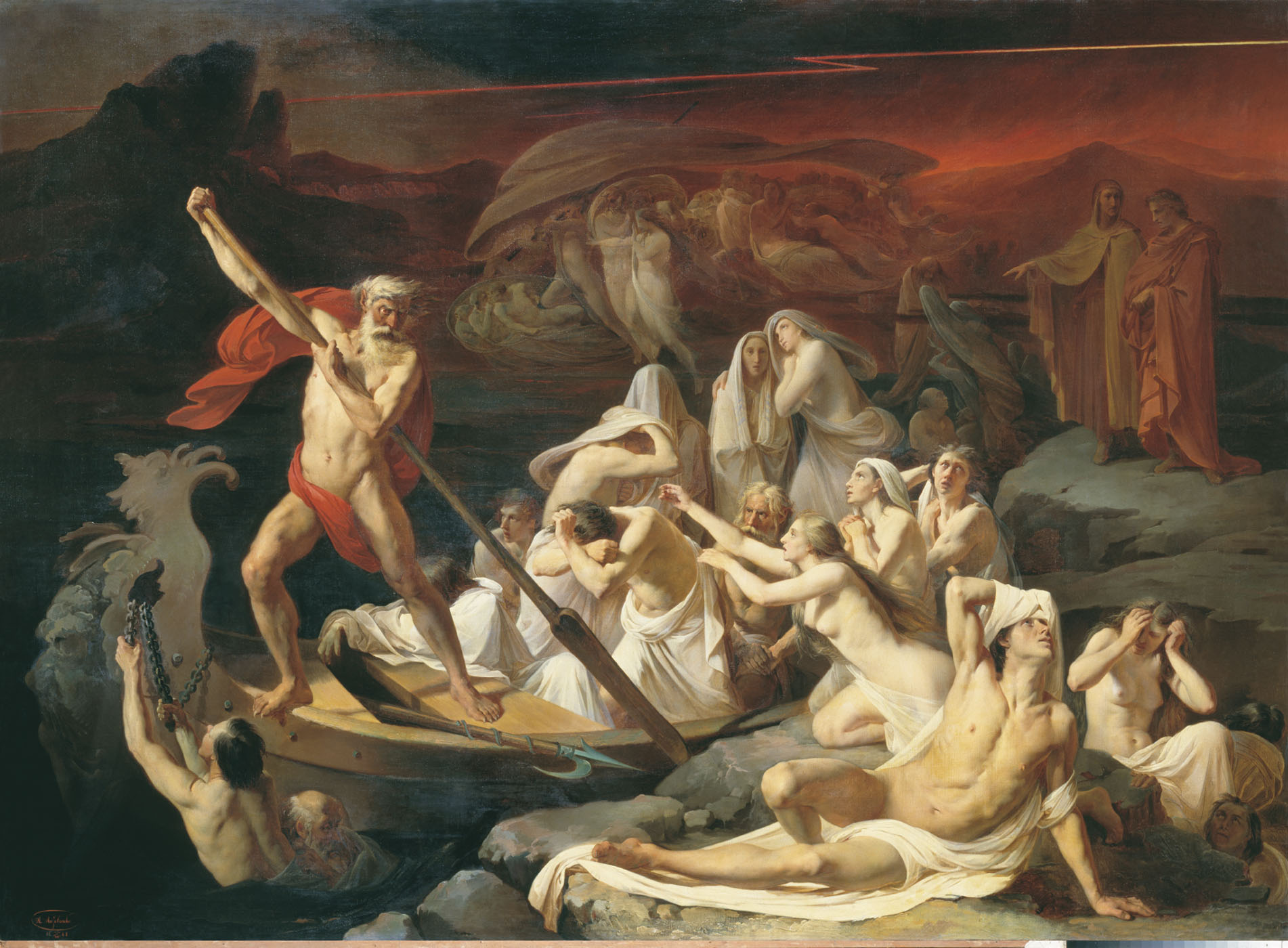 A 19th-century interpretation of Charon's crossing by Alexander Litovchenko.