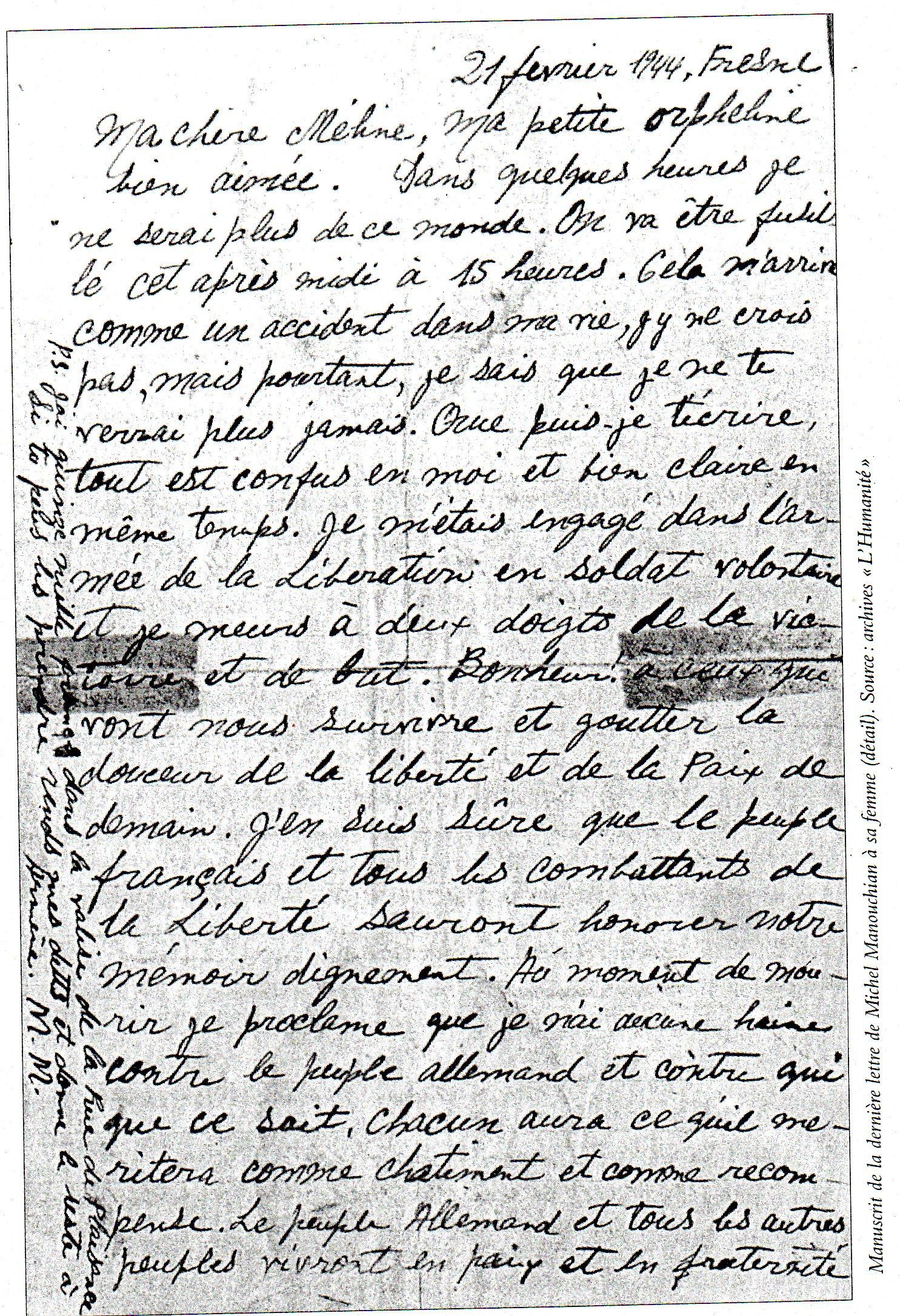 lettre manouchian