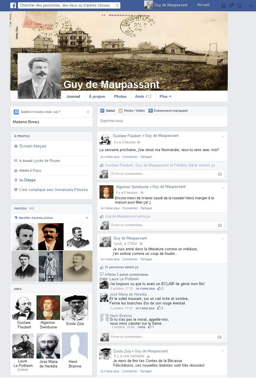 page facebook de maupassant